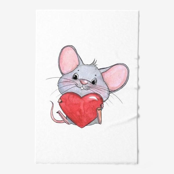 Полотенце «мышонок с сердцем»