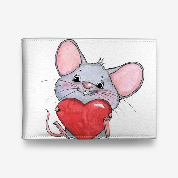 Кошелек «мышонок с сердцем»
