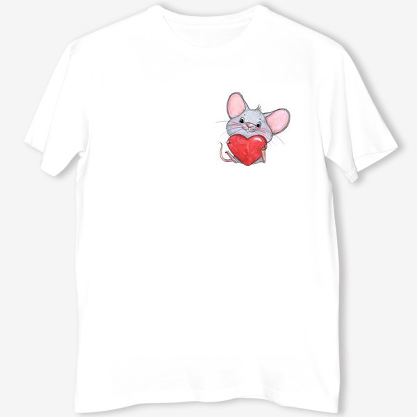 Футболка «мышонок с сердцем»