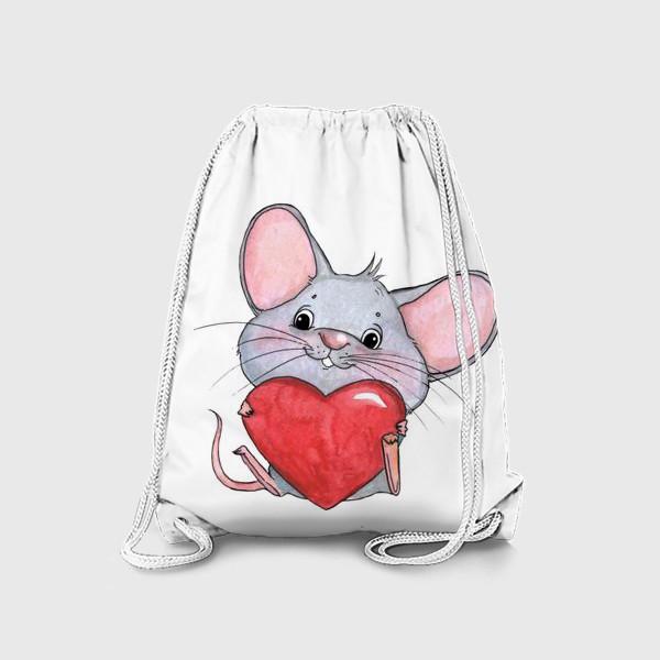 Рюкзак «мышонок с сердцем»