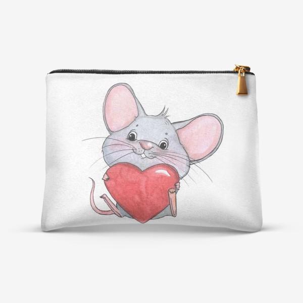 Косметичка «мышонок с сердцем»