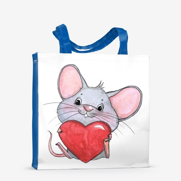 Сумка-шоппер «мышонок с сердцем»