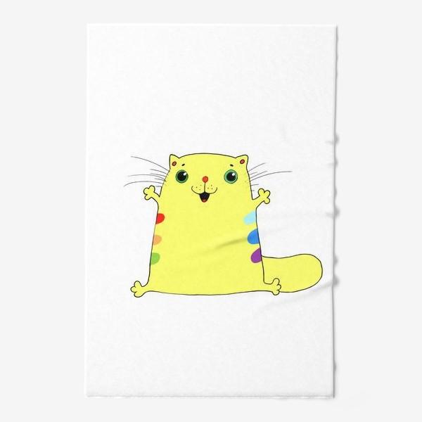 Полотенце «кот желток»