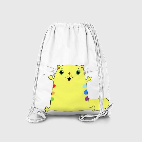 Рюкзак «кот желток»