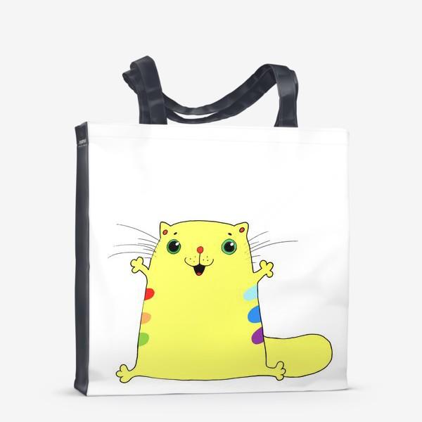 Сумка-шоппер «кот желток»