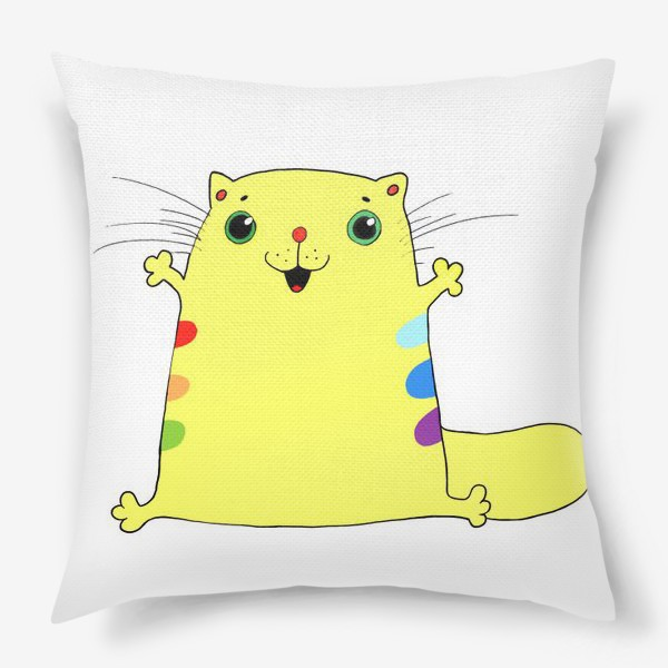 Подушка «кот желток»
