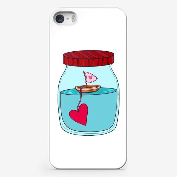 Чехол iPhone «Любовь, корабль и море»