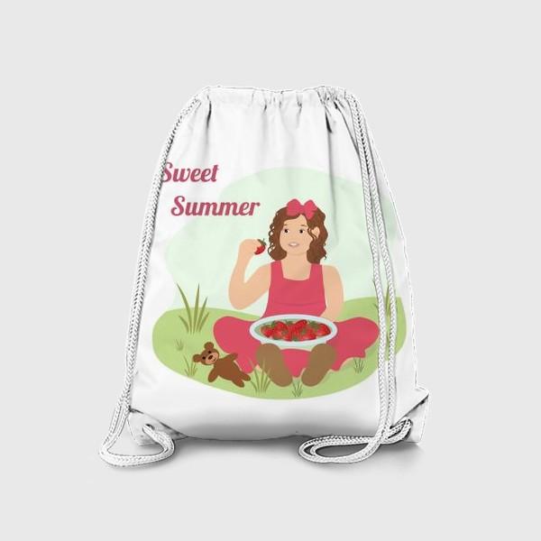 Рюкзак «Девочка с клубникой»