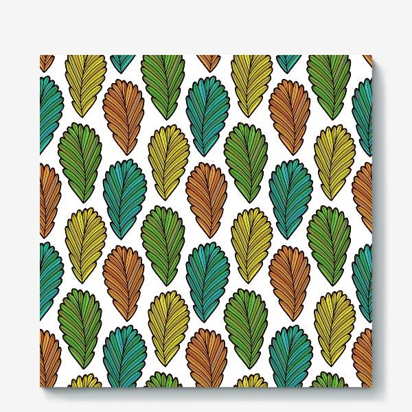 Холст «Осенняя листва. Разноцветные листья»