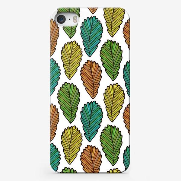 Чехол iPhone «Осенняя листва. Разноцветные листья»