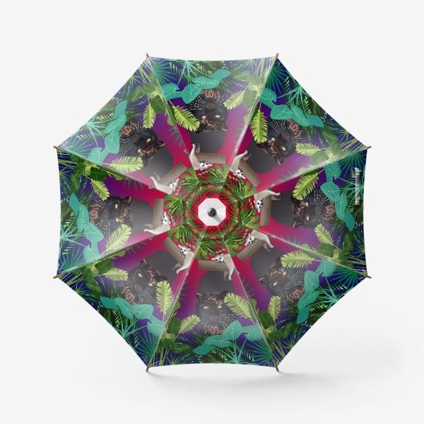Зонт «Закат в джунглях »