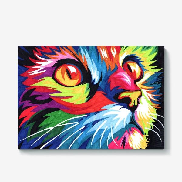 Холст «Кот в стиле поп арт»