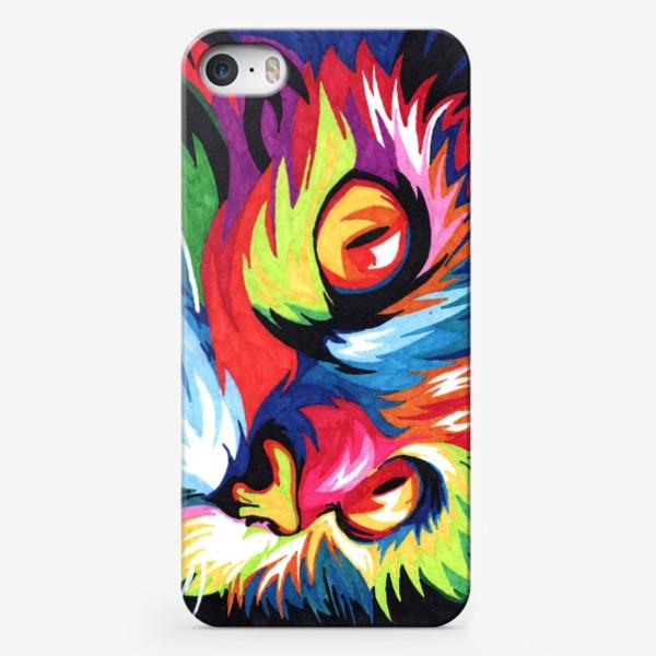 Чехол iPhone «Кот в стиле поп арт»