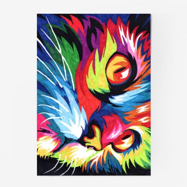 Постер «Кот в стиле поп арт»