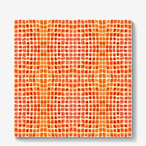 Холст «Оранжевый узор»