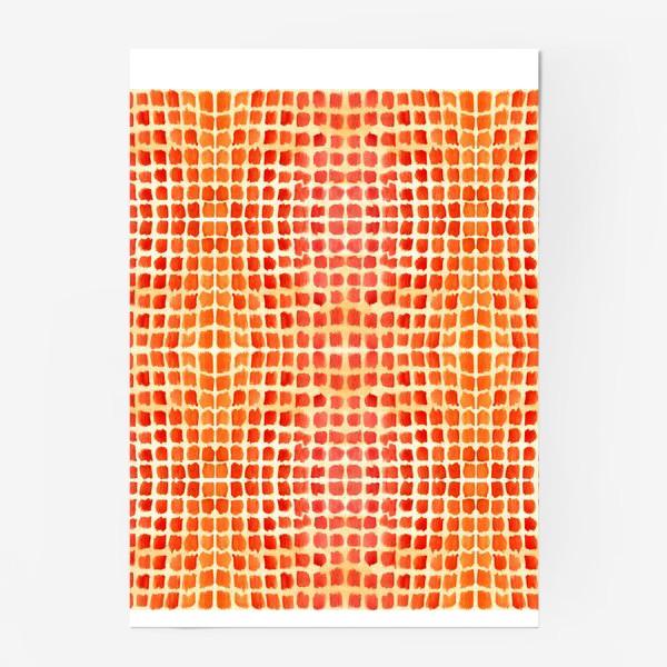 Постер «Оранжевый узор»