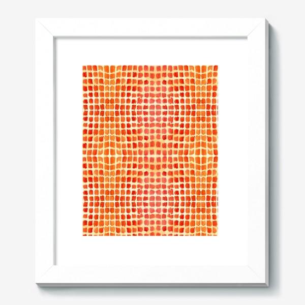 Картина «Оранжевый узор»