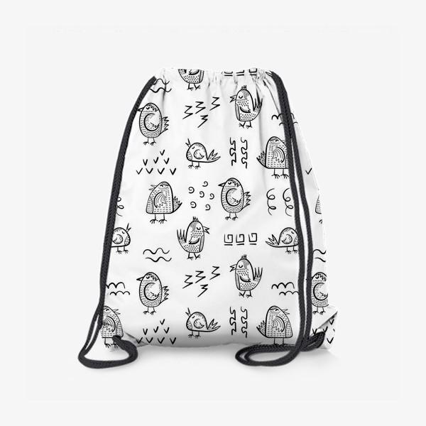 Рюкзак «Птички в стиле дудл»