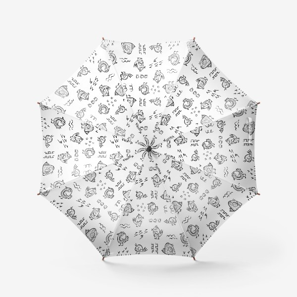 Зонт «Птички в стиле дудл»