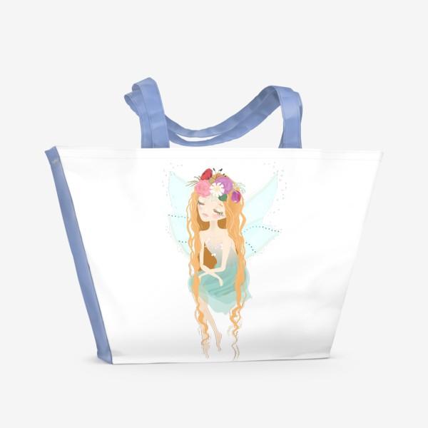 Пляжная сумка «Цветочная фея»
