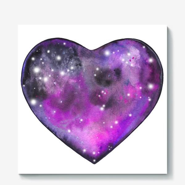 Холст «космос в сердце»