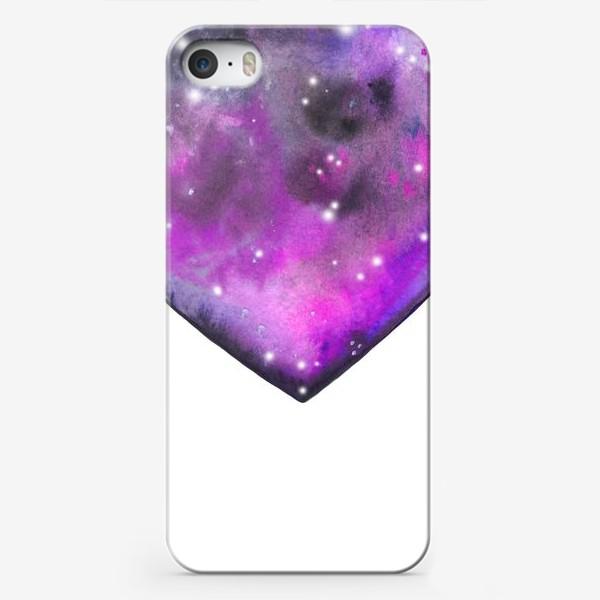 Чехол iPhone «космос в сердце»