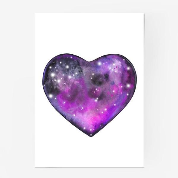 Постер «космос в сердце»