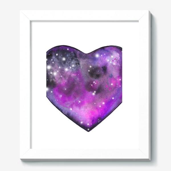 Картина «космос в сердце»