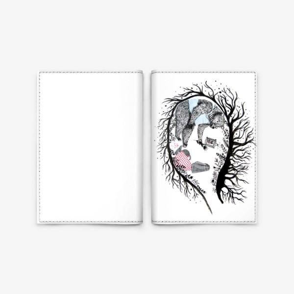 Обложка для паспорта «Медведь в берлоге»