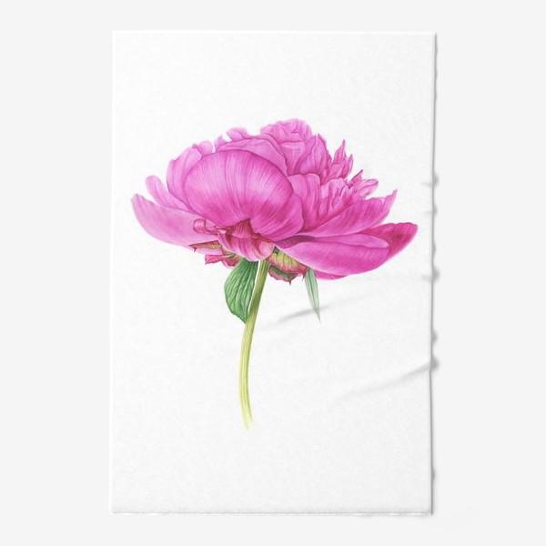 Полотенце «Яркий розовый пион»