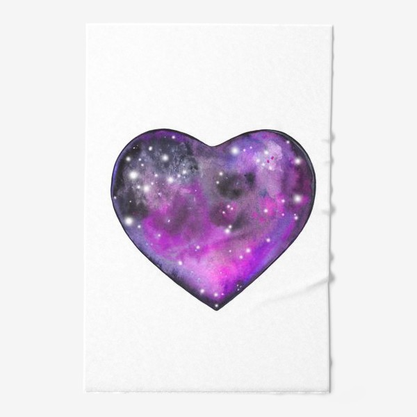 Полотенце «космос в сердце»