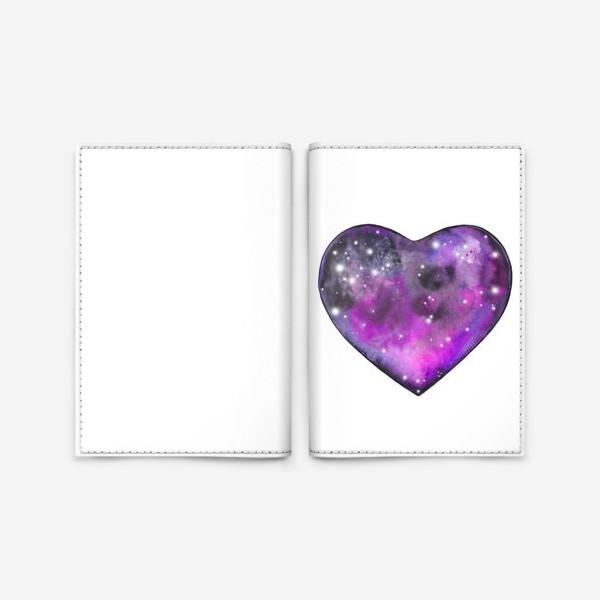 Обложка для паспорта «космос в сердце»