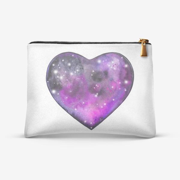 Косметичка «космос в сердце»