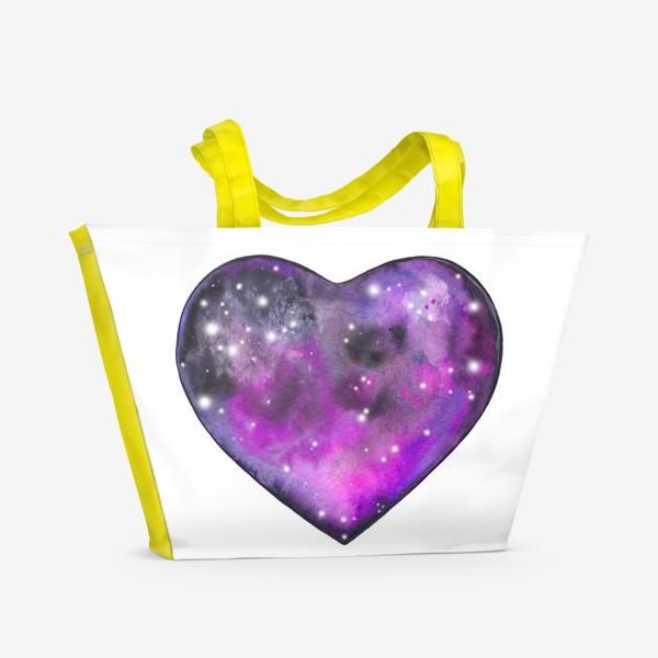 Пляжная сумка «космос в сердце»