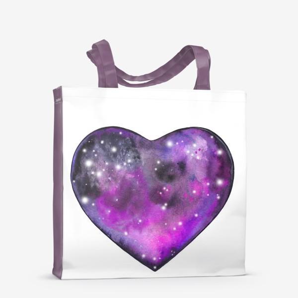 Сумка-шоппер «космос в сердце»
