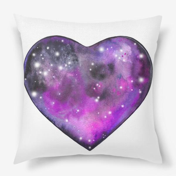 Подушка «космос в сердце»