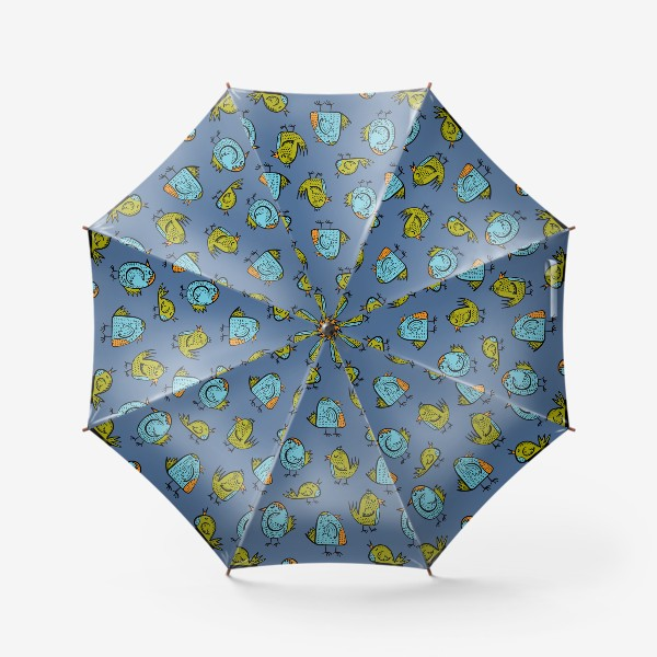 Зонт «Птички на синем»