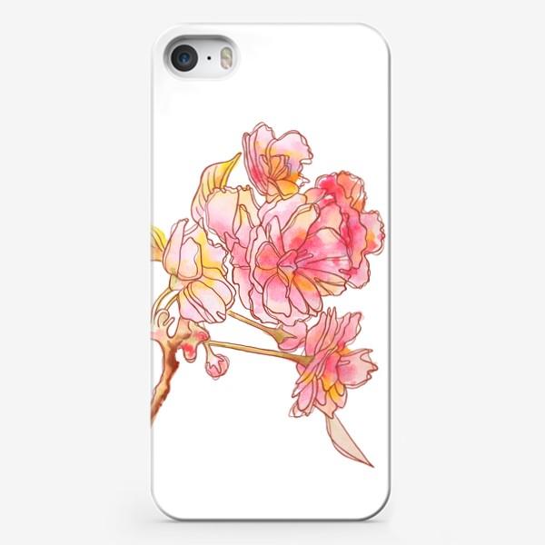 Чехол iPhone «Цветы розовые»