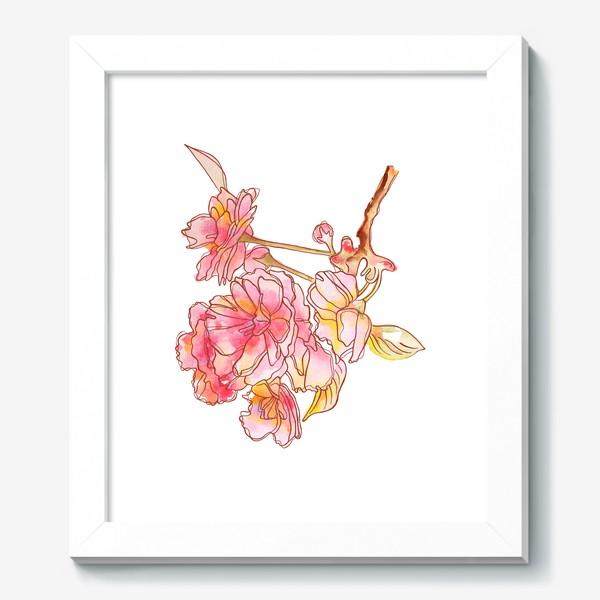 Картина «Цветы розовые»