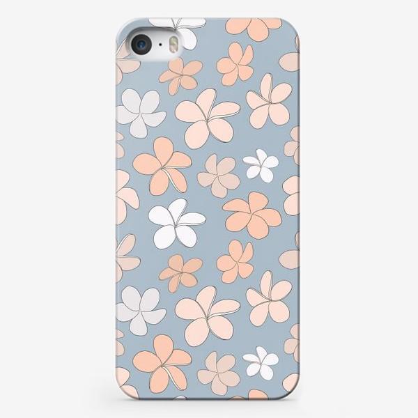 Чехол iPhone «Цветы разноцветные паттерн. »