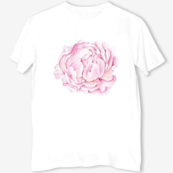 Футболка «Розовый бутон пиона»