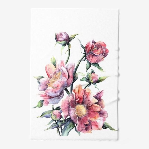 Полотенце «Цветы Пионы»