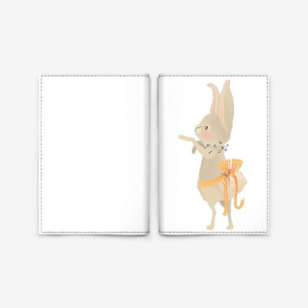 Обложка для паспорта «Зайка с венком из цветов»