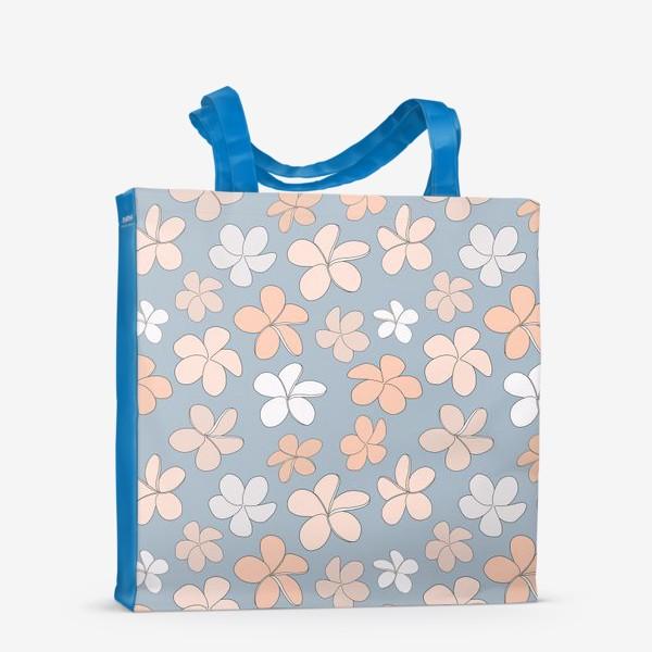 Сумка-шоппер «Цветы разноцветные паттерн. »