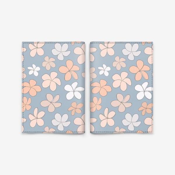 Обложка для паспорта «Цветы разноцветные паттерн. »