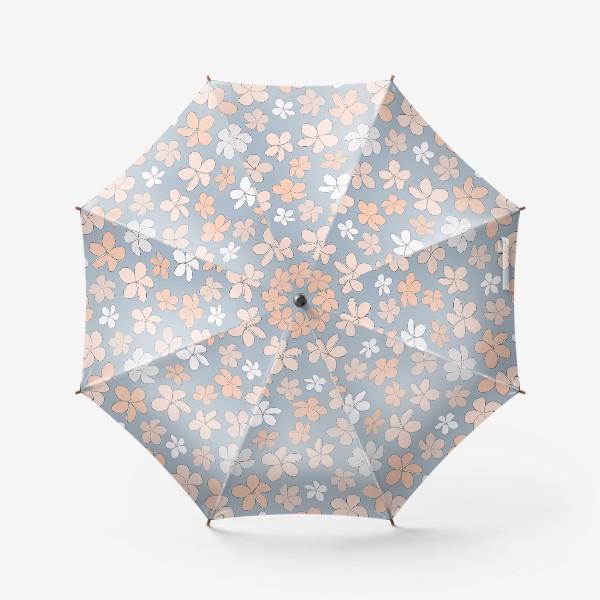 Зонт «Цветы разноцветные паттерн. »