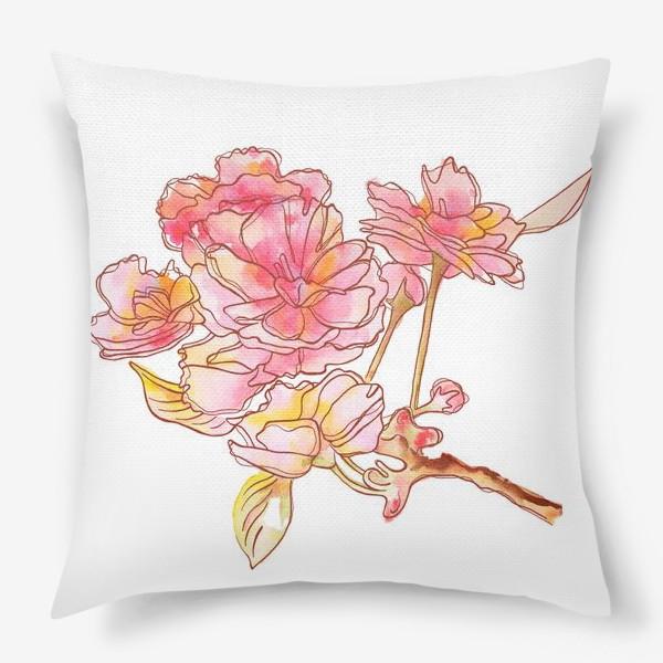 Подушка «Цветы розовые»