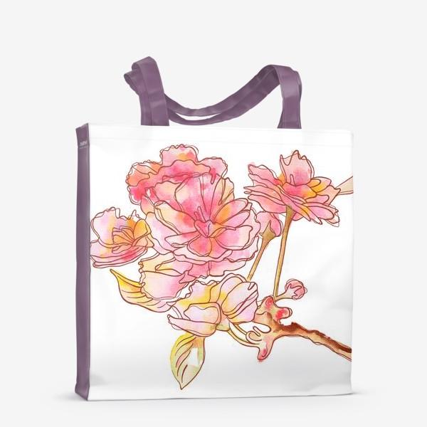 Сумка-шоппер «Цветы розовые»
