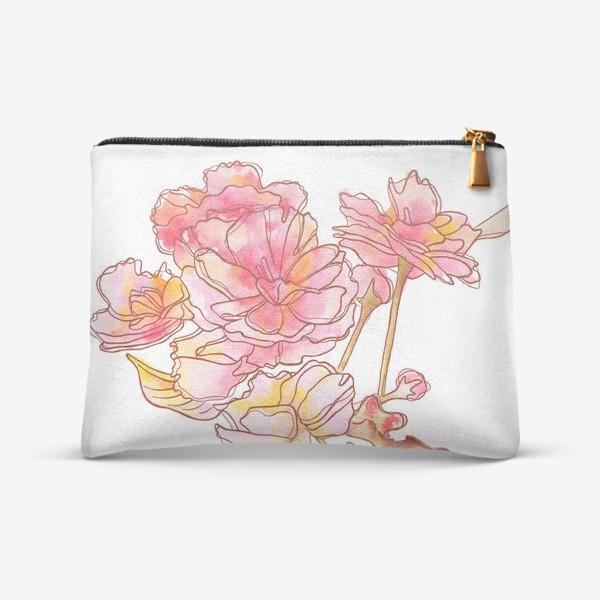 Косметичка «Цветы розовые»