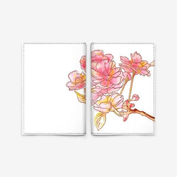 Обложка для паспорта «Цветы розовые»